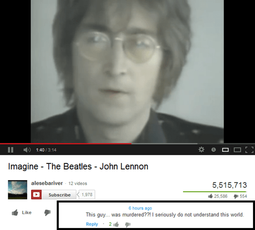 Music beatles john lennon youtube imagine