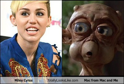 Aliens totally looks like miley cyrus Mac and Me funny