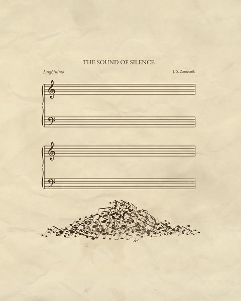 The Sound of Silence Music sheet music funny - 7611158784