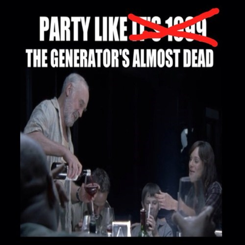 TV,zombie,parties,The Walking Dead