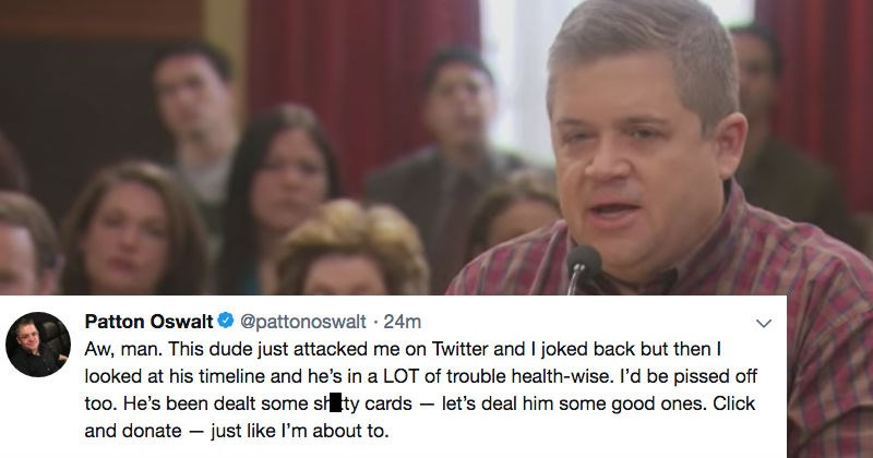 twitter Patton Oswalt donald trump debate faith in humanity restored win politics - 7612933