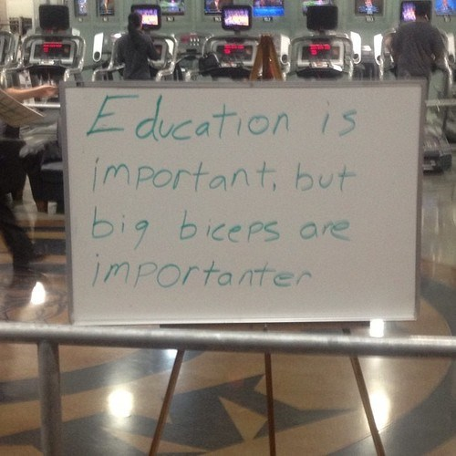 sign work out books biceps education funny - 7613086976