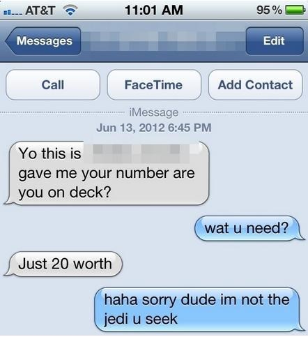 wrong number,Jedis,funny