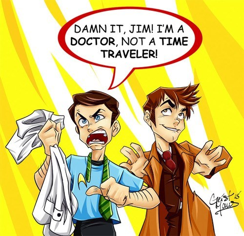 crossover,doctor who,Star Trek