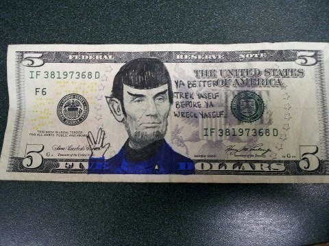 Spock Star Trek money - 7613496576