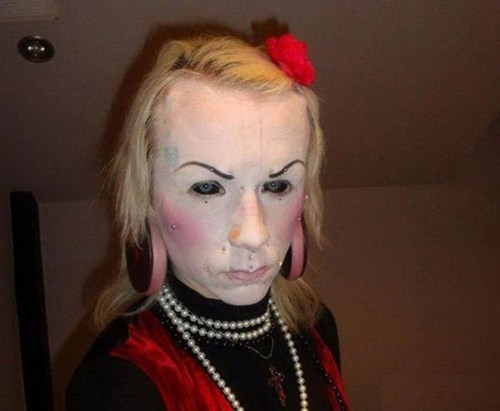 scary,contacts,wtf,body mod,make up