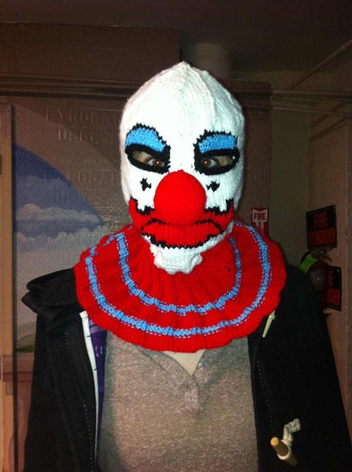 clowns masks Knitted funny poorly dressed