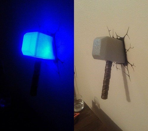 Thor mjolnir light funny - 7613885952
