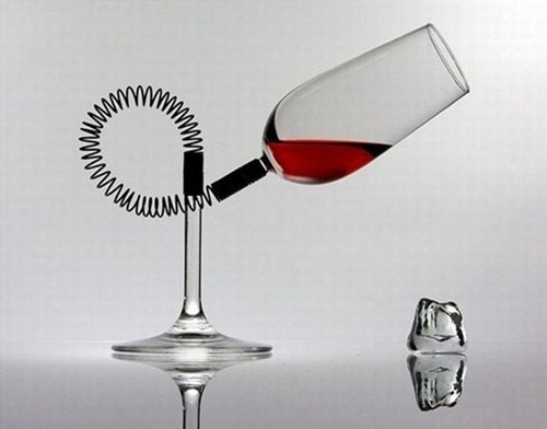 spring design wine glass funny - 7613980416