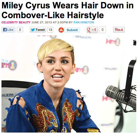 Music combover miley cyrus funny - 7614098432