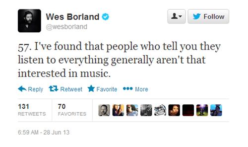 Music,twitter,wes borland,limp bizkit,advice