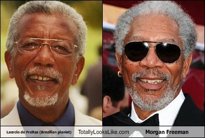 laercio de freitas,glasses,totally looks like,Morgan Freeman,funny