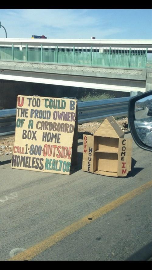 homeless DIY funny cardboard - 7614319360