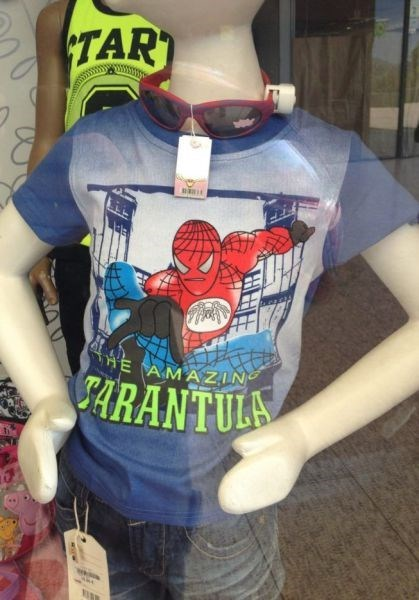 engrish Spider-Man shirt knockoff funny - 7614333184