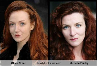 totally looks like,michelle fairley,olivia grant,funny