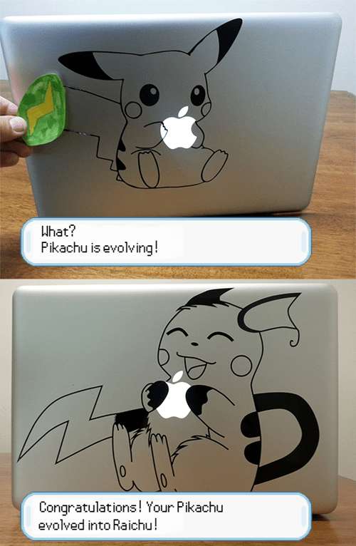 raichu art macbook pikachu thunderstone - 7614972160