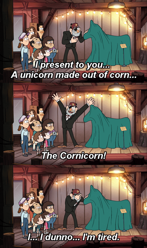wtf,gravity falls,cartoons,cornicorn