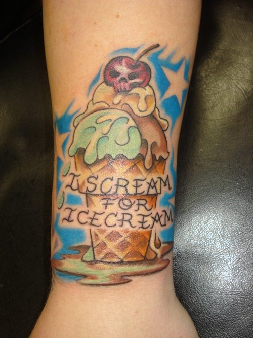 puns,ice cream,tattoos,funny
