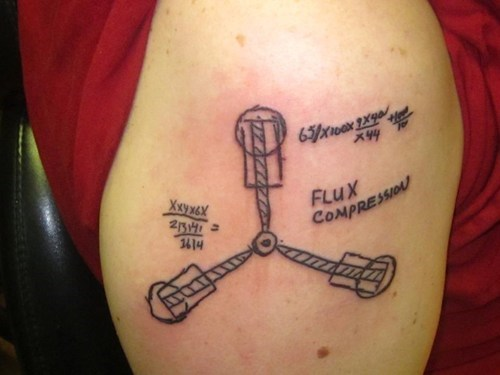 flux capacitor tattoos science funny g rated Ugliest Tattoos - 7616195328