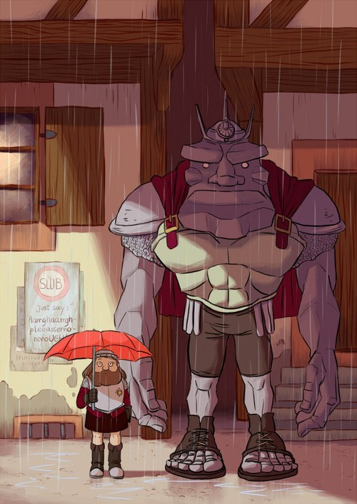 crossover Fan Art discworld my neighbor totoro - 7616487680
