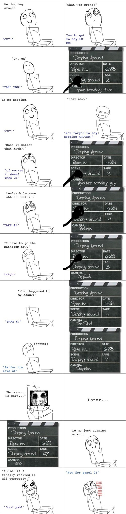 director,Movie,making rage comics,derping around