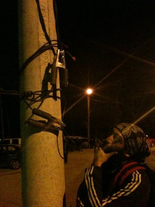 clamps,telephone poles,electrical problems,funny