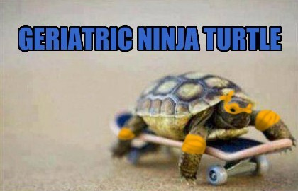 geriatric teenage mutant ninja turles funny - 7619843584