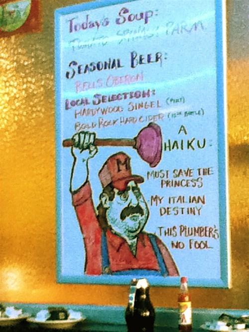 sign nerdgasm haiku Super Mario bros mario funny - 7620740096