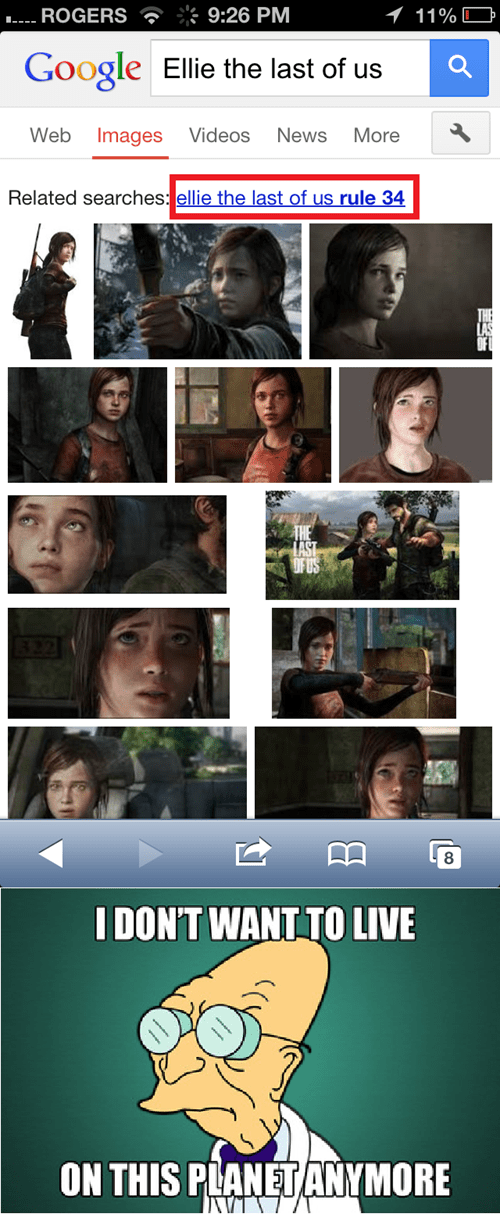 i dont want to live on this planet anymore,google search,the last of us