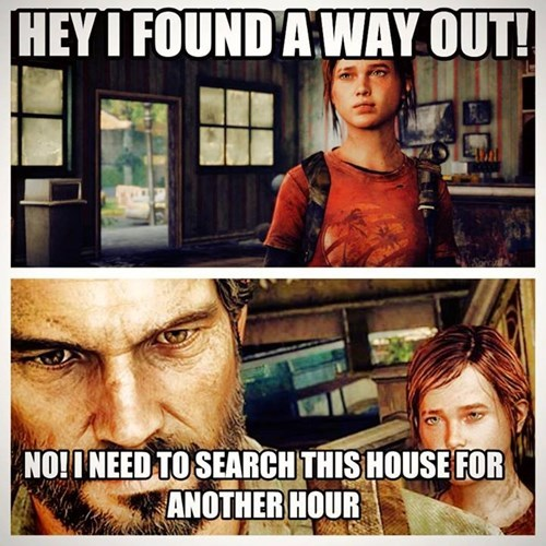 ellie,joel,the last of us,video game logic