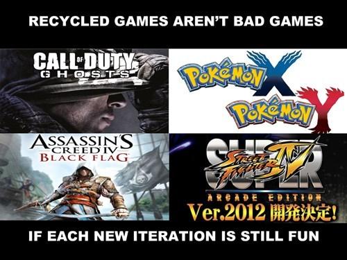 call of duty,Pokémon,Street fighter,assassins creed
