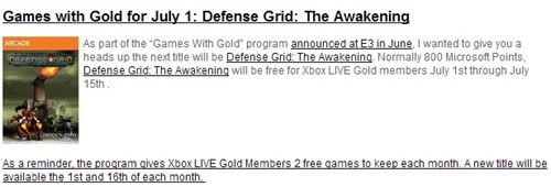 news Video Game Coverage games for gold defense grid microsoft