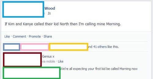 baby names,morning wood,kanye west,north west