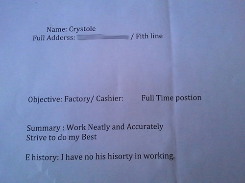 resume,job application