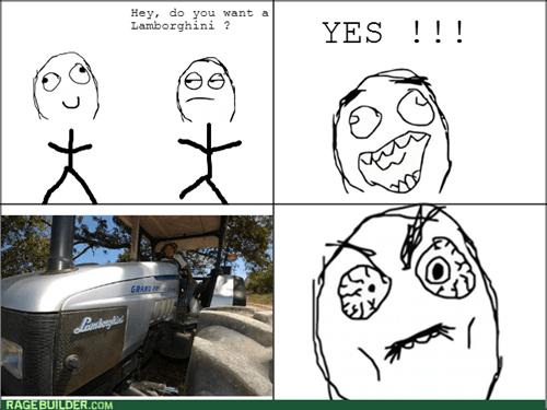 tractor,trolling,lamborghini