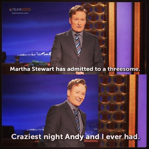 Martha Stewart,andy richter,conan o' brien