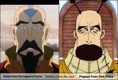 tenzin,pagaya,totally looks like,beards,legend of korra,funny,one piece