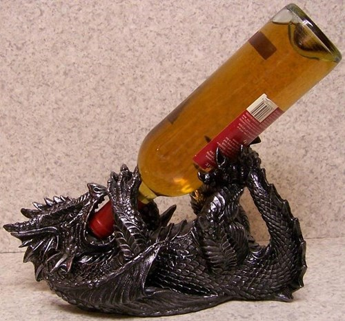 bottle dragon wine holder funny