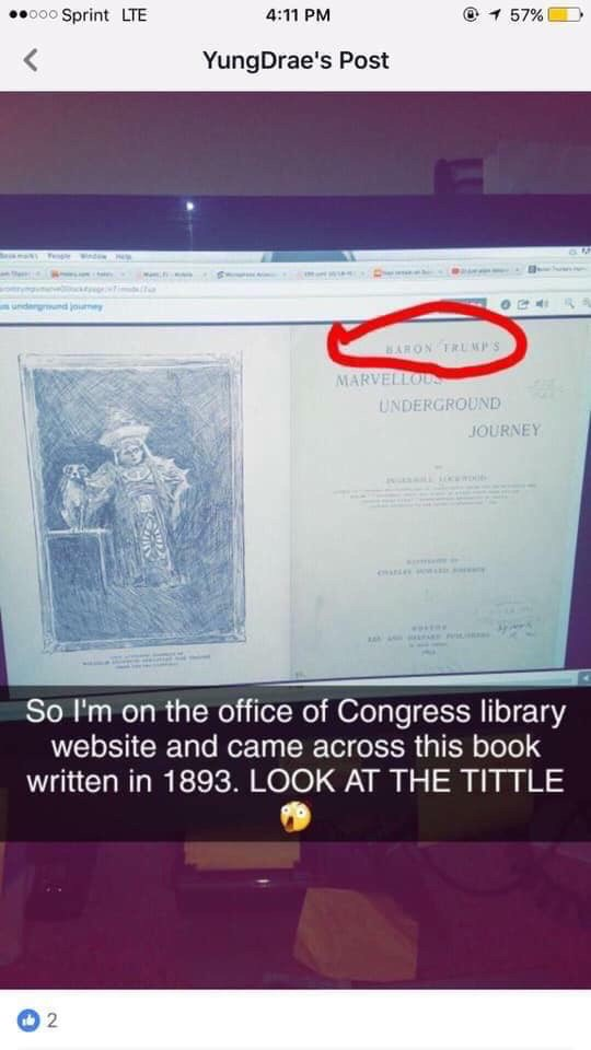 Proof that Donald Trump is a time traveller which actually explains so much