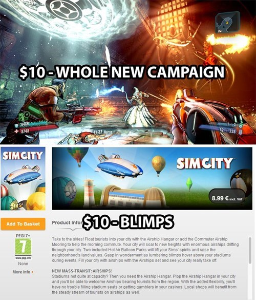 SimCity,EA,DLC,borderlands 2