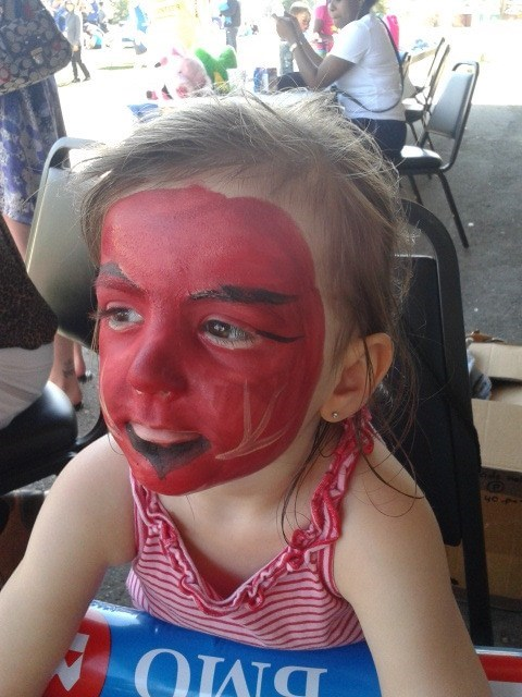 kids,satan,face painting,funny