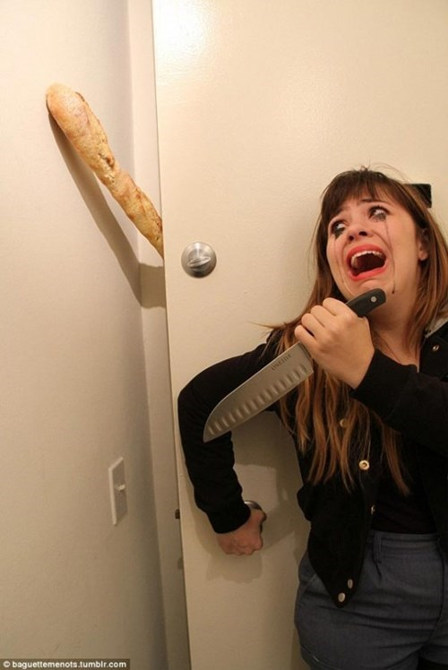 wtf knives monster bread funny