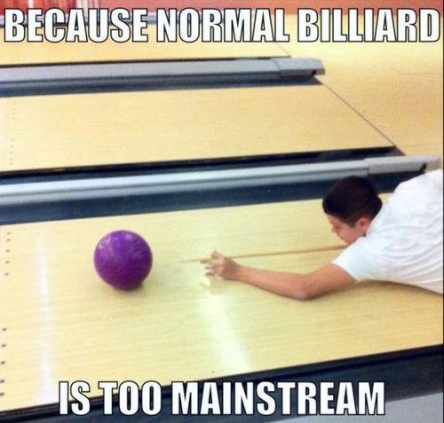hipsters bowling billiards - 7623074816
