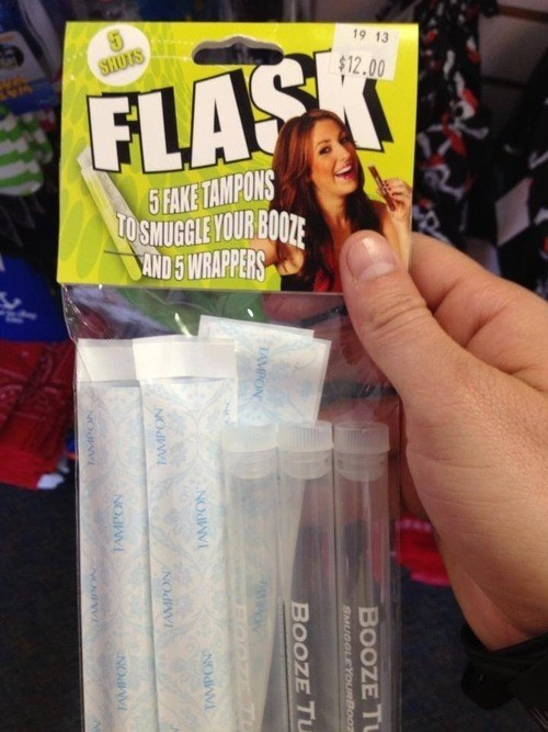 drinking,lady bits,what,flask,tampon,funny,weird,dating
