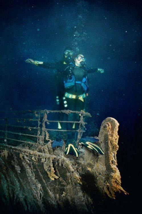 titanic,scuba,funny