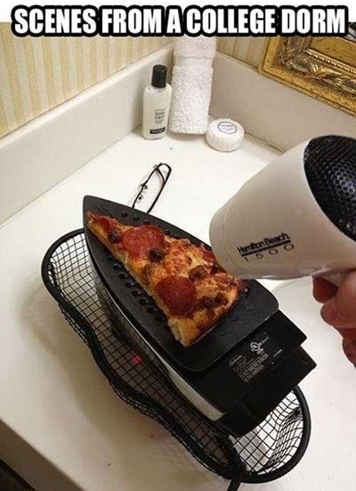 pizza irons funny college - 7623138048