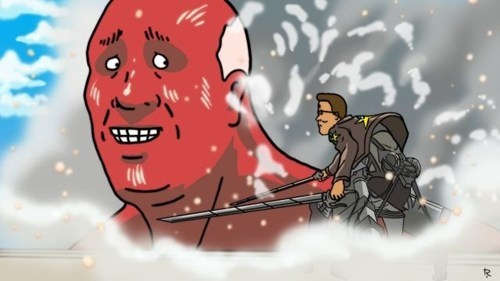 crossover anime Fan Art King of the hill attack on titan cartoons - 7623345408