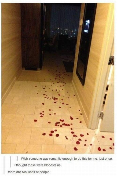romantic creepy rose petals funny dating - 7623439872