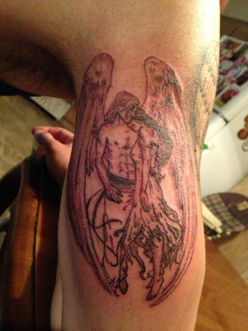 angels tattoos funny - 7623669504