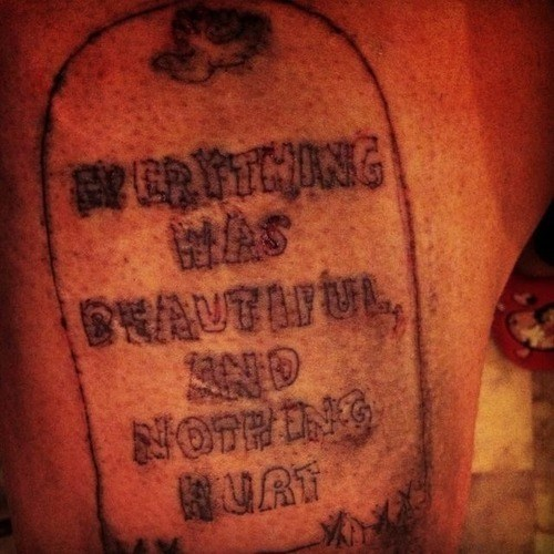 kurt vonnegut,tattoos,funny